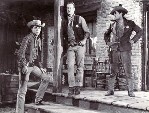 Ricky Nelson y John Wayne y Dean Martin